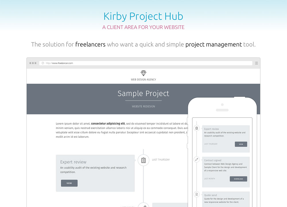 screenshot Kirby Project Hub