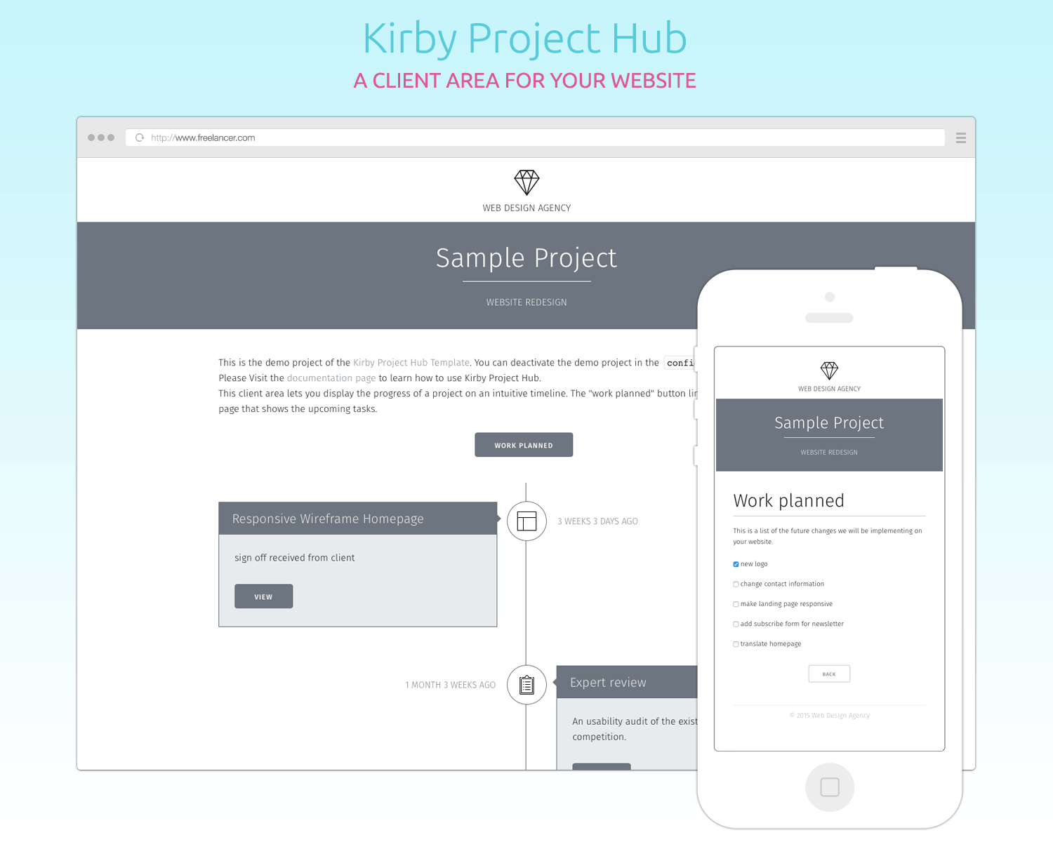 Kirby Project Hub : a client area for your website