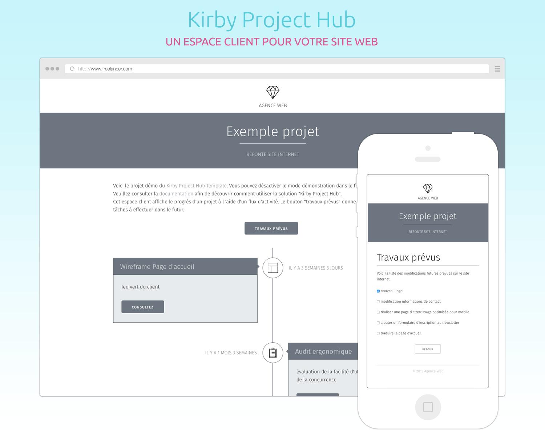 Kirby Project Hub : un espace client pour votre site
